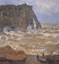 Etretat, Rough Seas [1883]