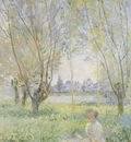 Woman Sitting under the Willow [1880]