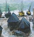 Boats on the Beach at Etretat [1885]