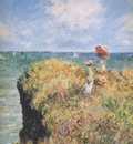 Walk on the Cliff at Pourville [1882]