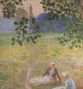 Evening in the Meadow at Giverny [1888]
