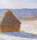 Grainstacks in the Morning, Snow Effect [1890 1891]