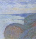 On the Cliff near Dieppe, Overcast Skies [1897]
