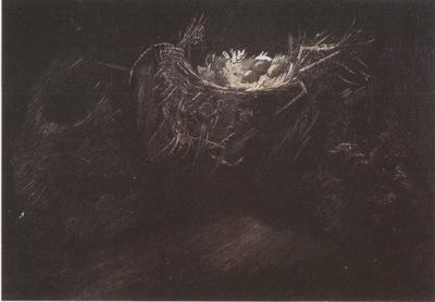 still life with birds nests, nuenen