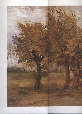 b  autumn landscape with four trees, nuenen