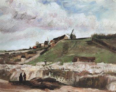 montmartre quarry, the mills, paris