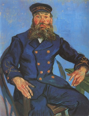 portrait of the postman joseph roulin, arles