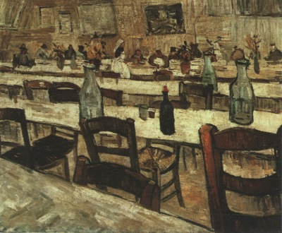 interior of the restaurant carrel in arles, arles