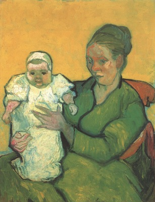 mother roulin with her baby, arles
