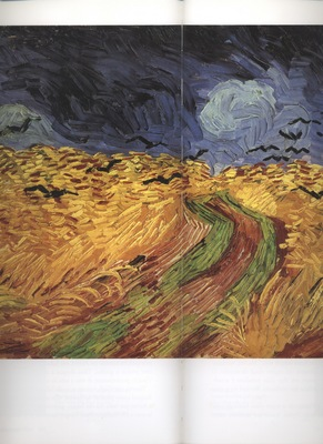 b  wheatfield with crows, auvers sur oise in