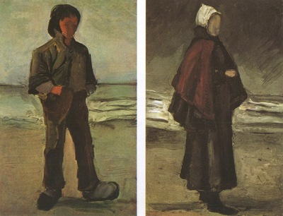 a fisherman and the fishermans wife in the beach