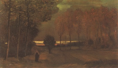 autumnal scenery at evening, nuenen