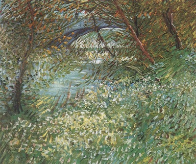 banks of the river seine with the clichys bridge in the spring, paris