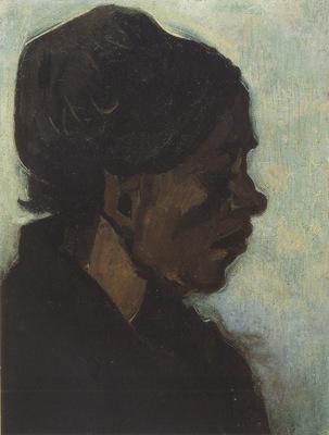 brabantes peasant head with dark coif, nuenen