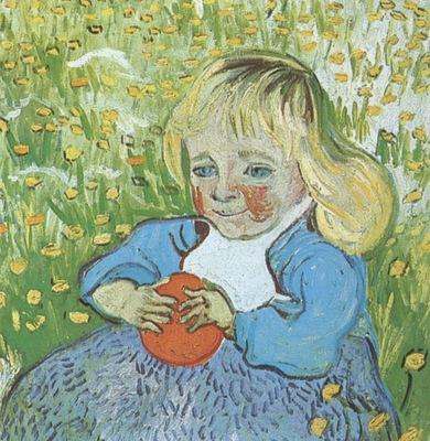 child with orange, auvers sur oise