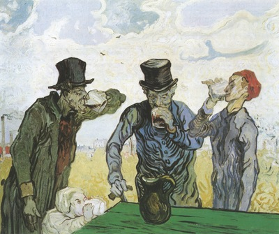 drinkers as daumier , saint remy