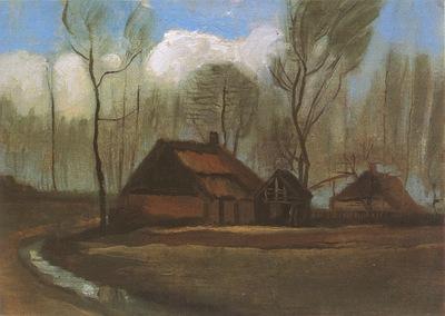farmhouses among trees, haia