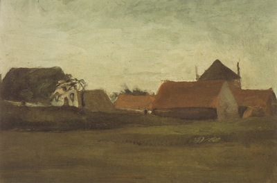 Farmhouses near Haia, Dusk Weather1883