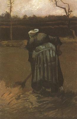 female peasant digging, nuenen