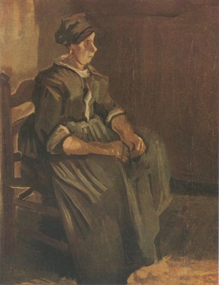 female peasant seated on a chair, nuenen