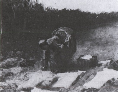 female peasant washing clothes, nuenen