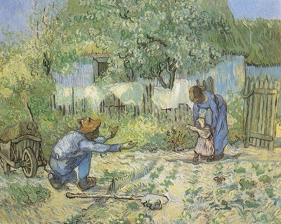first steps as millet , saint remy