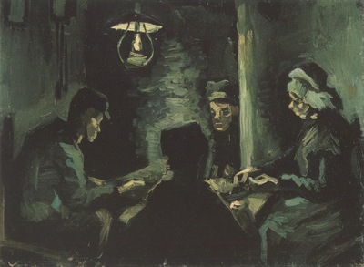 four peasants at the table, nuenen