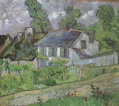 houses at auvers, auvers sur oise