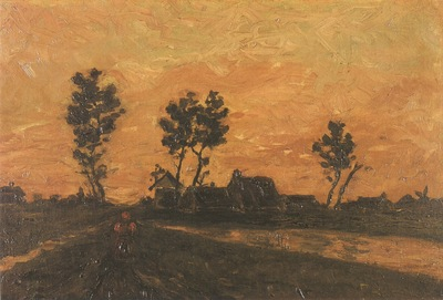 landscape at dusk, nuenen