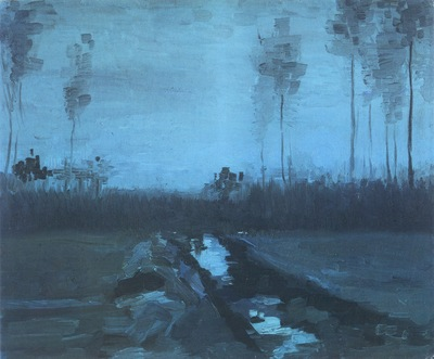 landscape at nightfall, nuenen