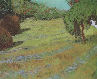 lawn in public park, arles