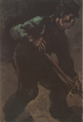 male peasant digging, nuenen