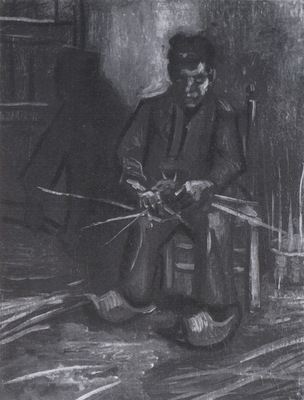 male peasant making a basket, nuenen