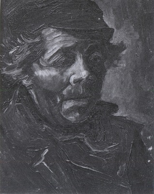 male peasants head with cap, nuenen