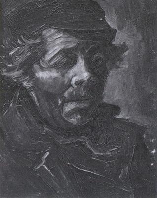 male peasants head with cap, nuenen