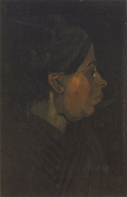 peasant head with dark cap, nuenen