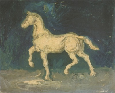 plaster statue of a horse, nuenen