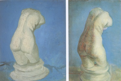 plaster statues of female back, nuenen