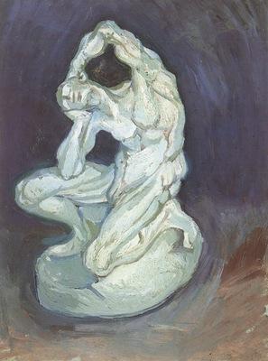 plaster statuette of a kneeling man, nuenen