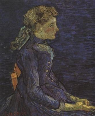 portrait of adeline ravoux, auvers sur oise