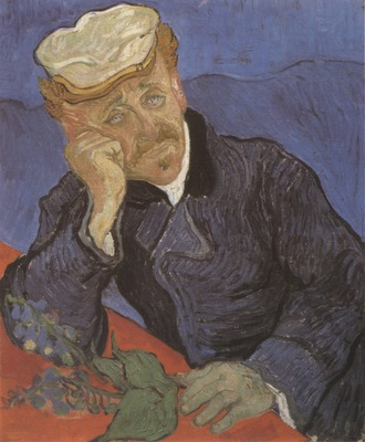portrait of doctor gachet, auvers sur oise