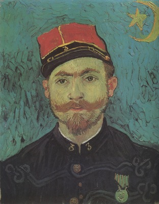 portrait of millet, 2nd lieutenant of the zouaves, arles