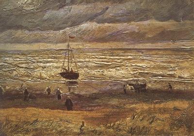 scheveningens beach, stormy weather