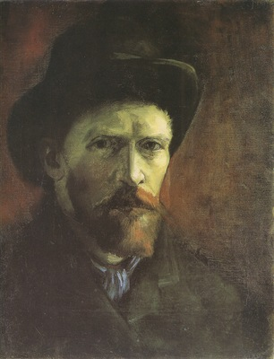 self portrait with dark felt hat, paris