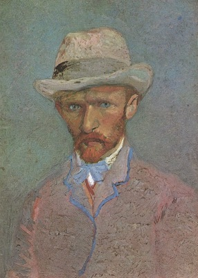 self portrait with felt hat, paris