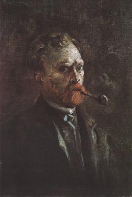 self portrait with pipe, paris