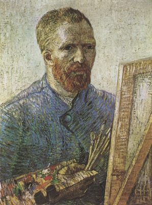 self portrait in front of the easel, paris 1887