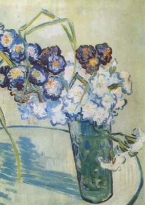 still life, glass with carnations, auvers sur oise