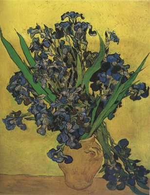 still life vase with irises, saint remy