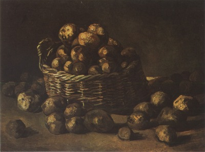 still life with basket of potatoes, nuenen